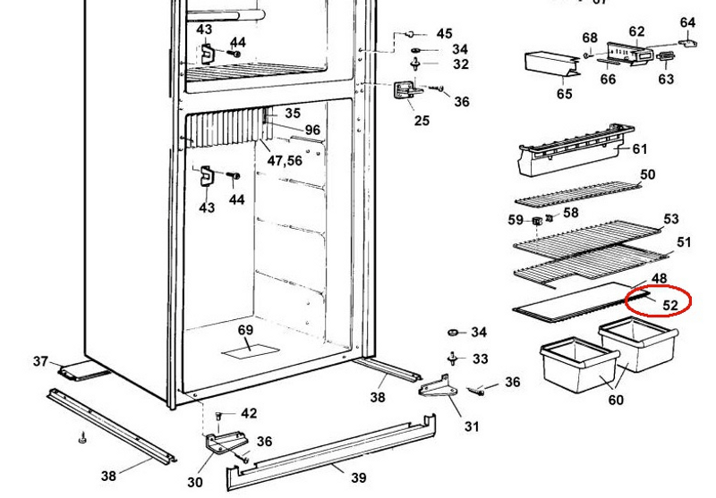 dometic rm2611 wiring diagram thetford c200 toilet fridge lower wire shelf 2002652408 the guy