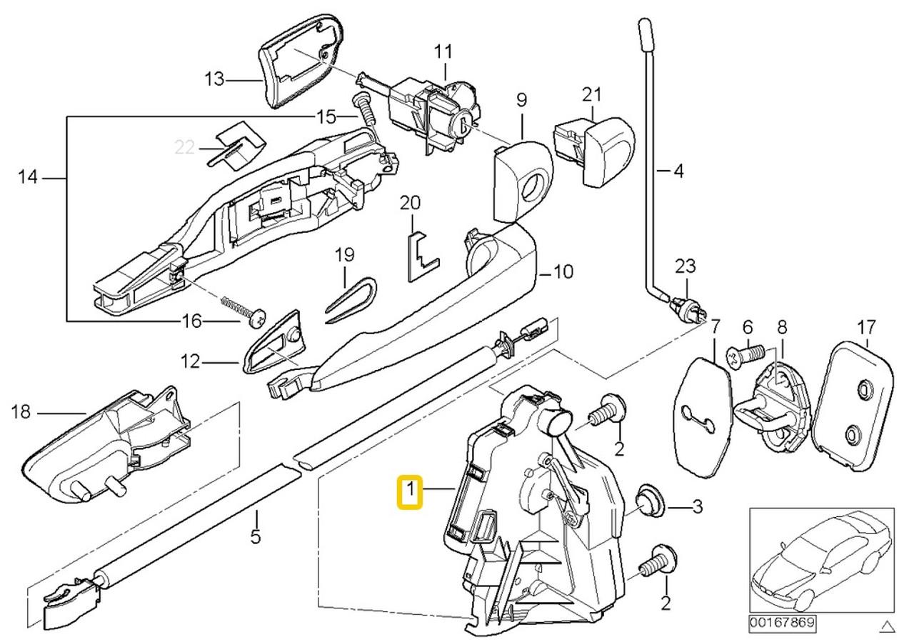 hight resolution of genuine bmw e46 99 01 door lock assy actuator left front mechanism locking motor