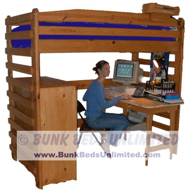 college loft bed plans bunk beds