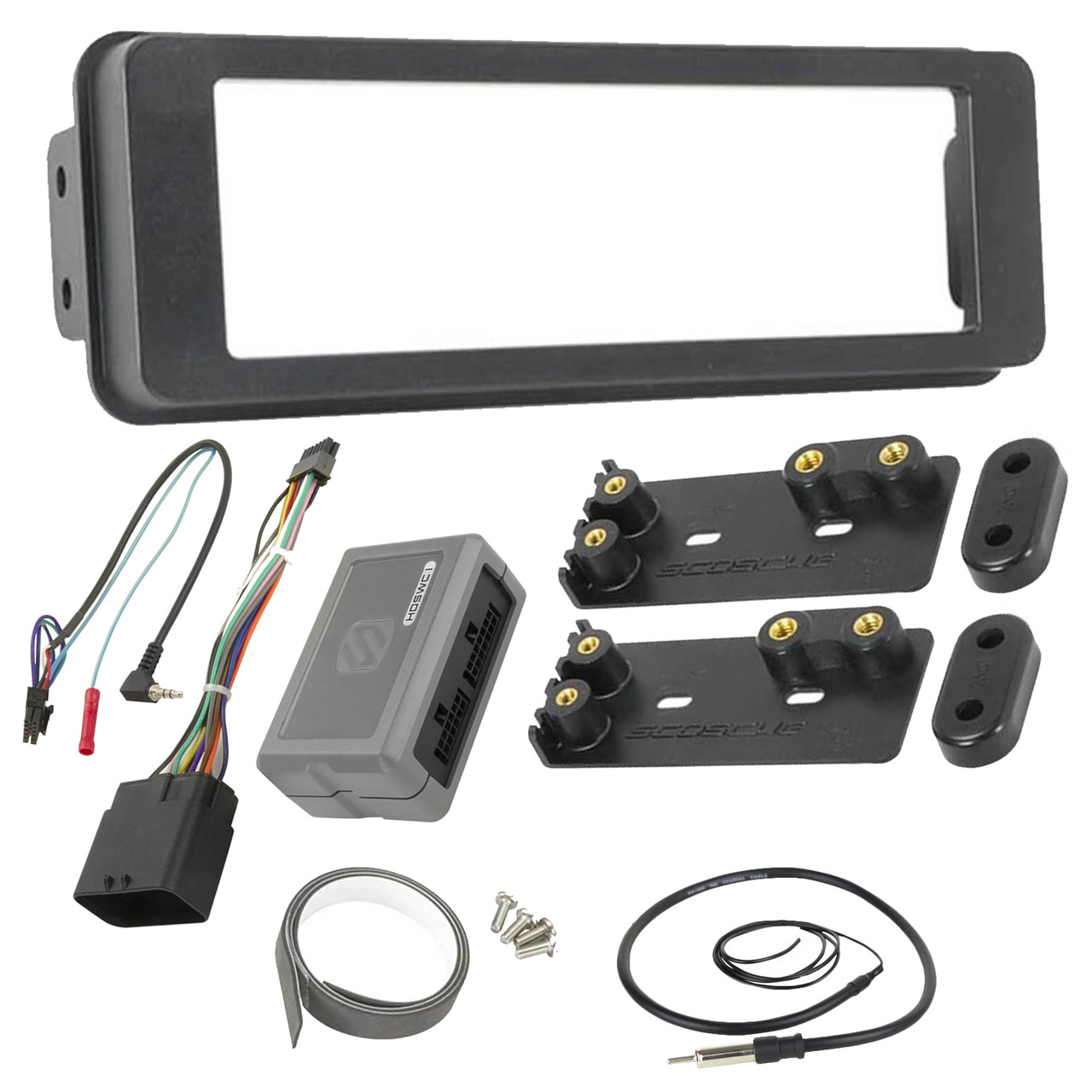 medium resolution of scosche hd7000b 1996 up harley davidson stereo install dash kit with 1992 s10 radio harness scosche wiring harness harley