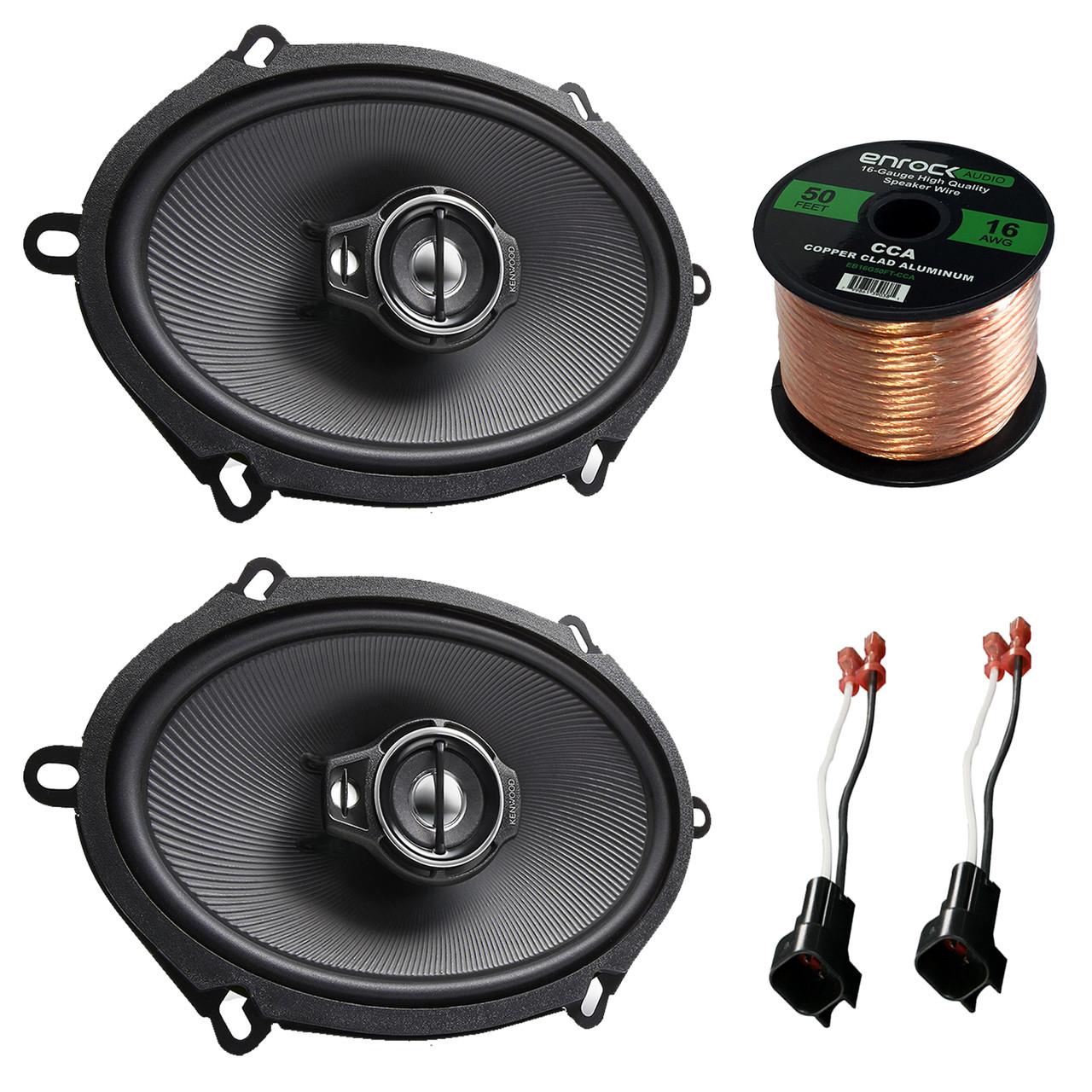medium resolution of car speaker combo of 2x kenwood kfc c5795ps 5x7 360w 3 way custom car audio wiring coaxial speaker car audio