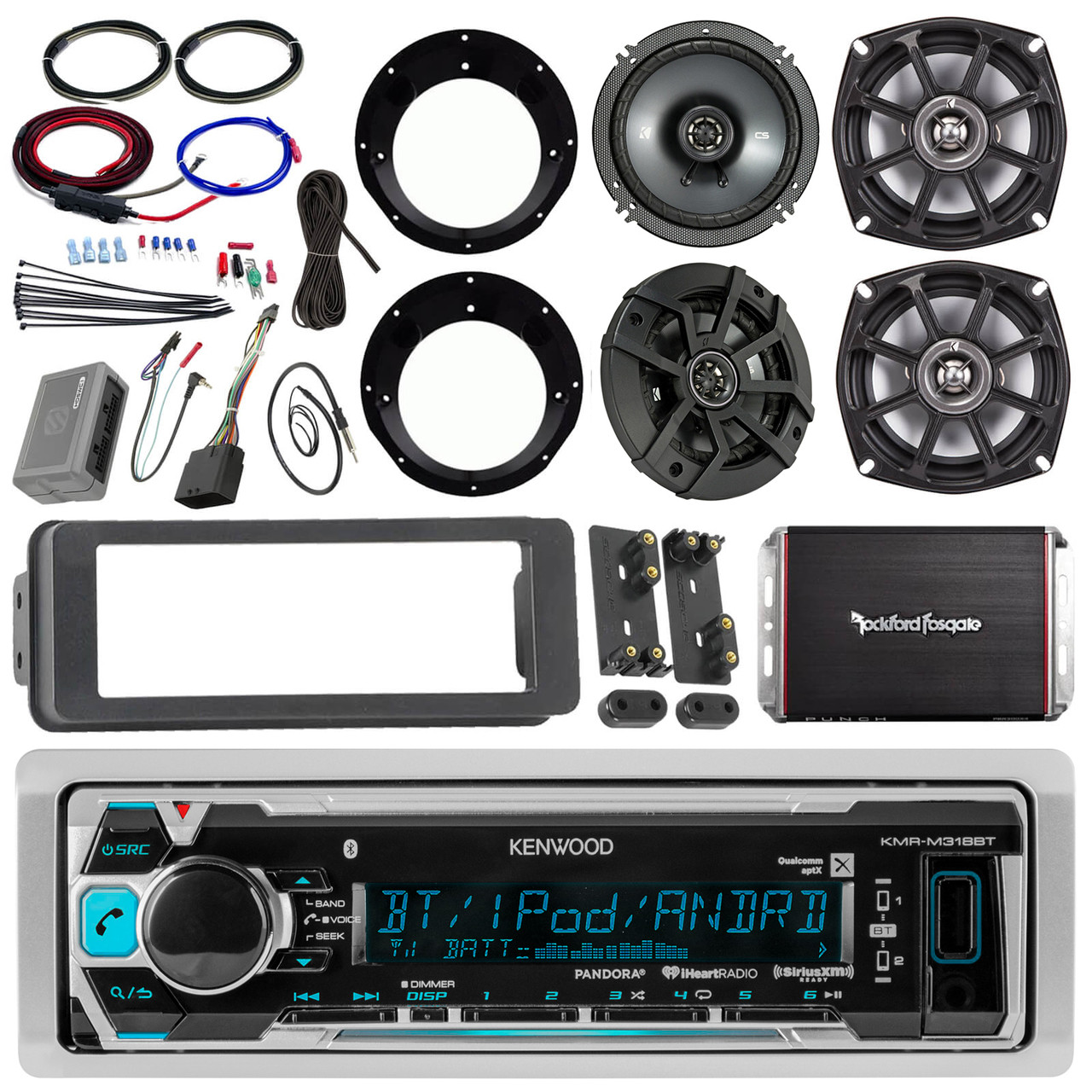 small resolution of kenwood kmrm318bt stereo receiver bundle 2x kicker 6 5 speaker 2 wiring diagram moreover 2 channel 4 ohm speakers wiring on 12 kenwood
