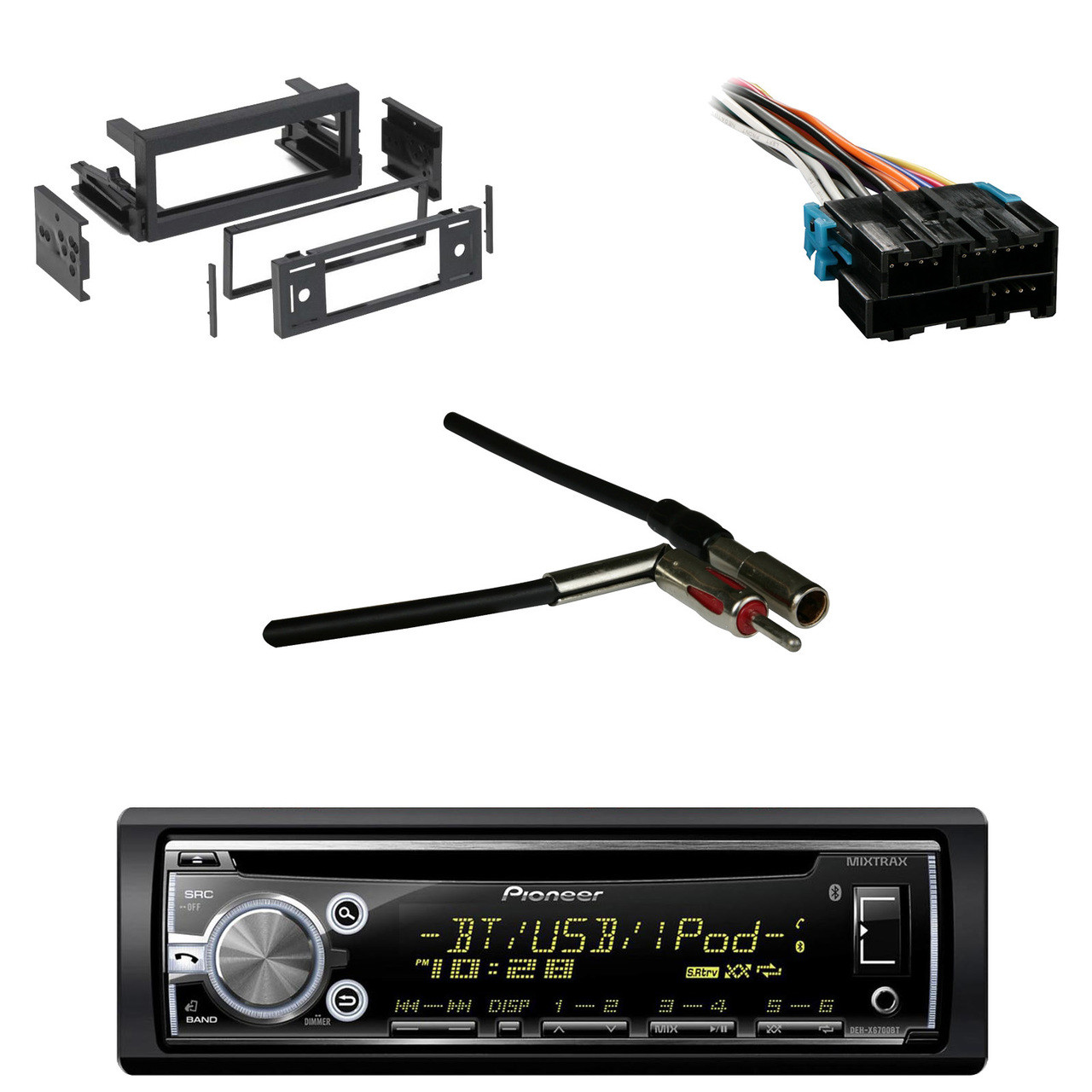 wire harness gm antenna adapter gm din kit pioneer metra [ 1280 x 1280 Pixel ]