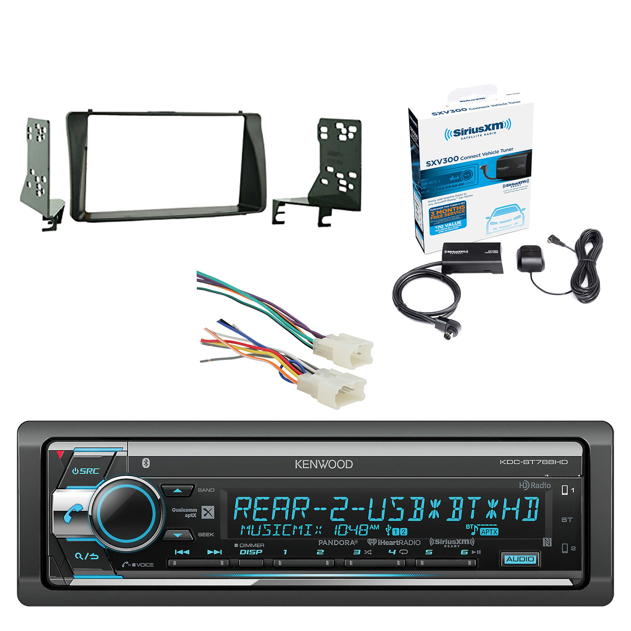 kenwood single din cd am fm car audio receiver with built in car radio receiver wiring [ 1280 x 1280 Pixel ]