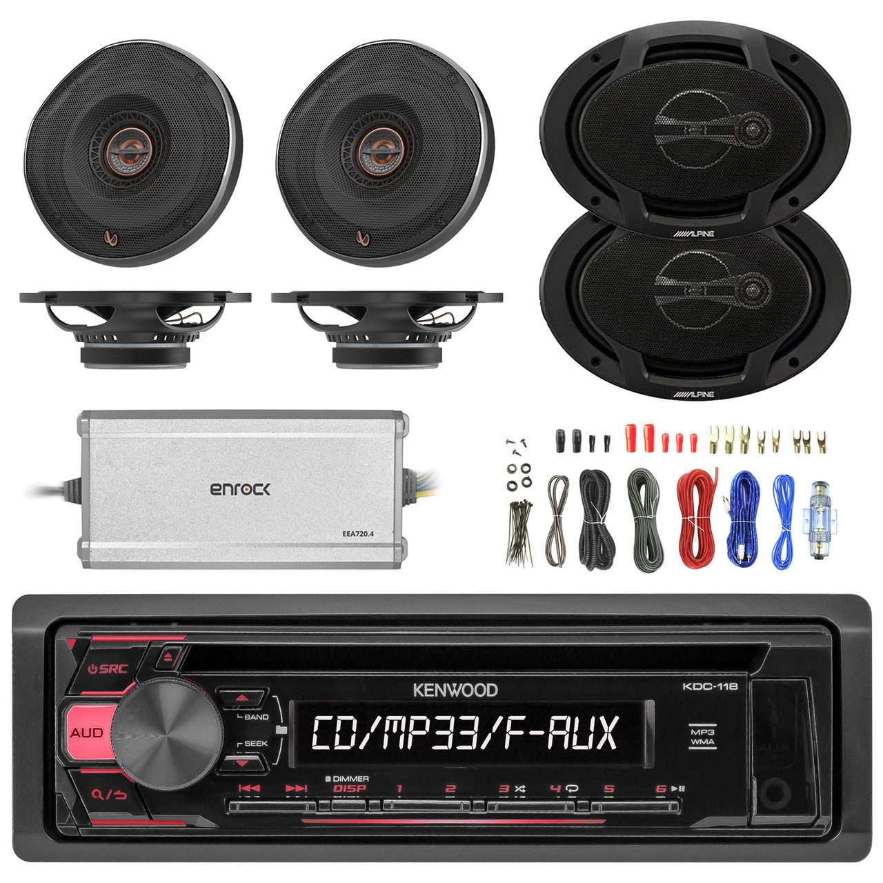hight resolution of sony am fm cd mp3 receiver 4x 6 5 speakers 2x 6x9 speakers amp running cable wiring sub sony amp wiring kit