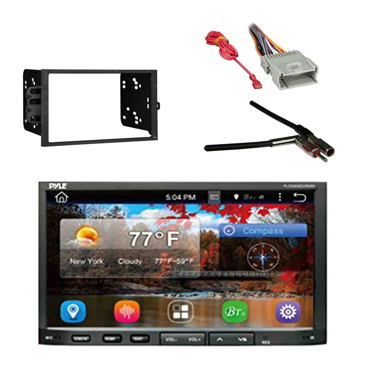 hight resolution of car stereo 2 din receiver with metra dash kit metra adapter pyle wiring harness s10