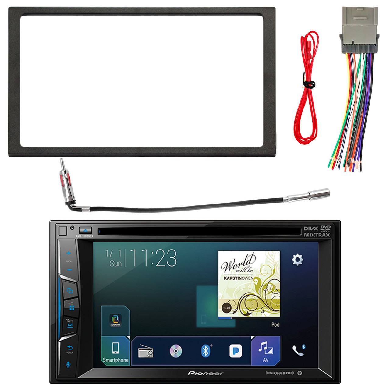 medium resolution of pioneer 6 2 bluetooth siriusxm ready dvd receiver enrock double din install dash kit enrock stereo wiring harness enrock antenna adapter select