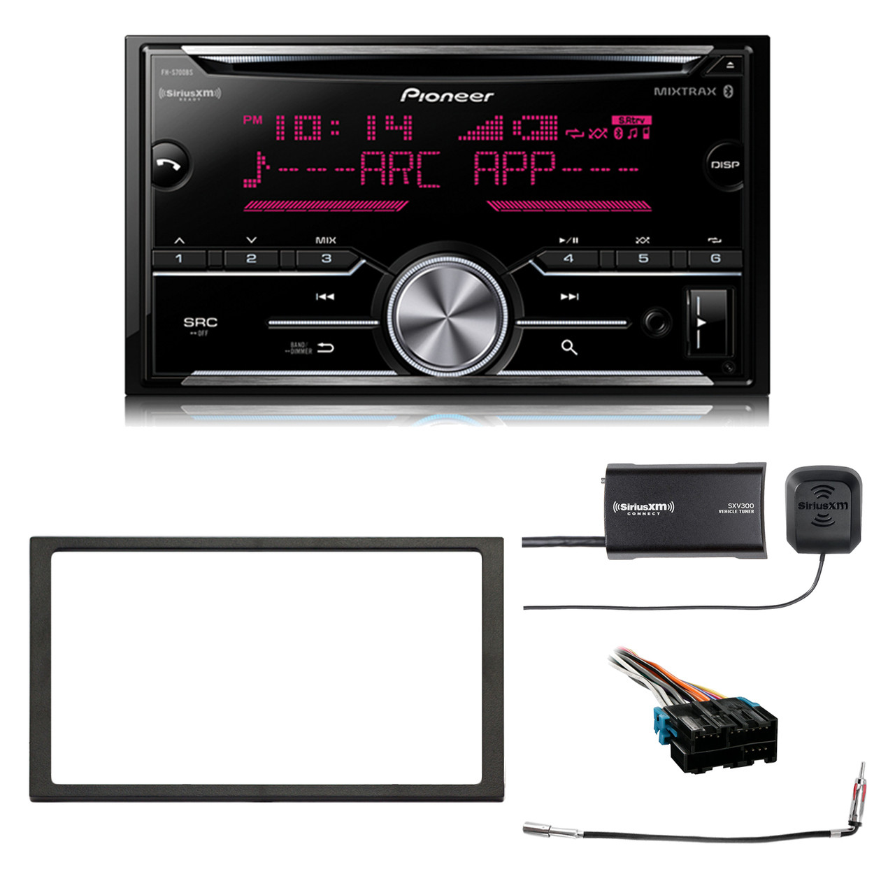 hight resolution of pioneer double din cd mixtrax bluetooth siriusxm ready receiver enrock 2 din install dash kit metra radio wiring harness antenna adapter