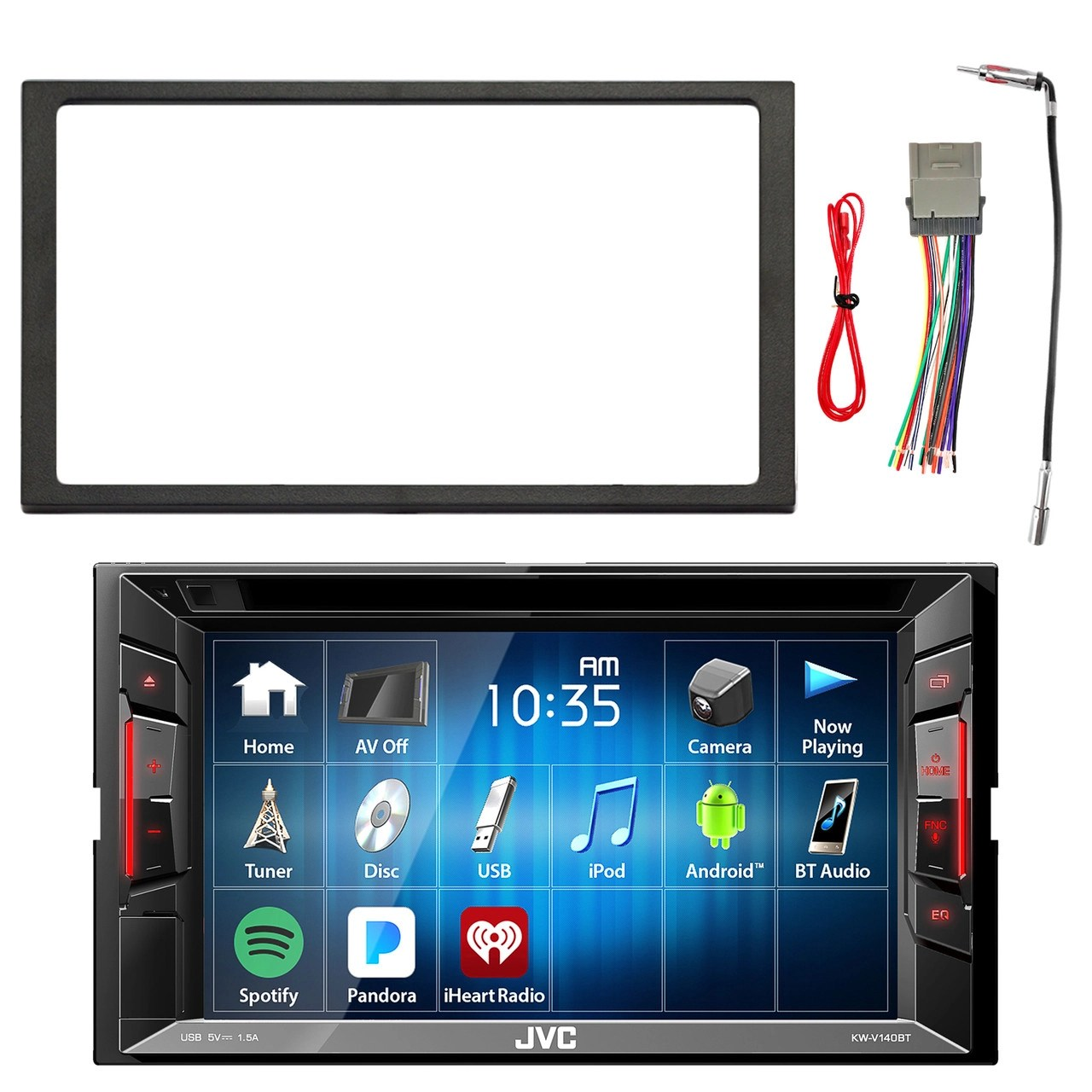 jvc double din in dash dvd cd am fm bluetooth car stereo car stereo wiring harness adapters  [ 1280 x 1280 Pixel ]