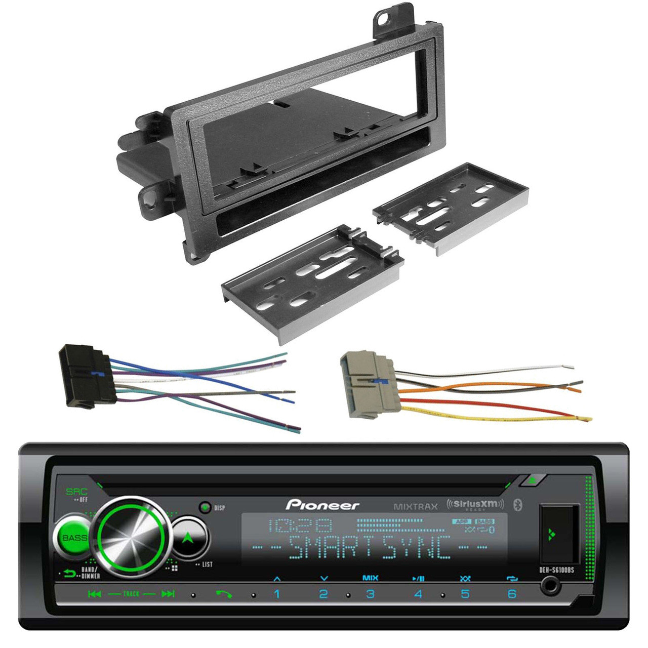 hight resolution of new pioneer din cd siriusxm bluetooth car stereo scosche wire harness dash kit road entertainment