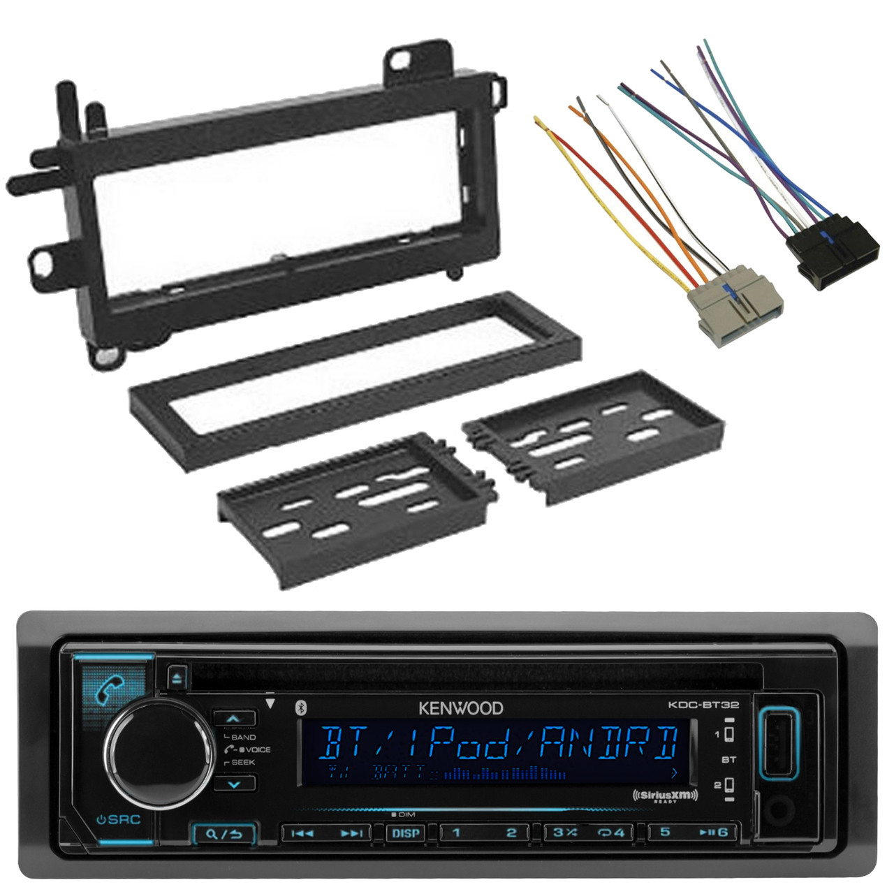 kenwood din cd mp3 bluetooth car stereo receiver scosche wire harness dash kit road entertainment [ 1280 x 1280 Pixel ]