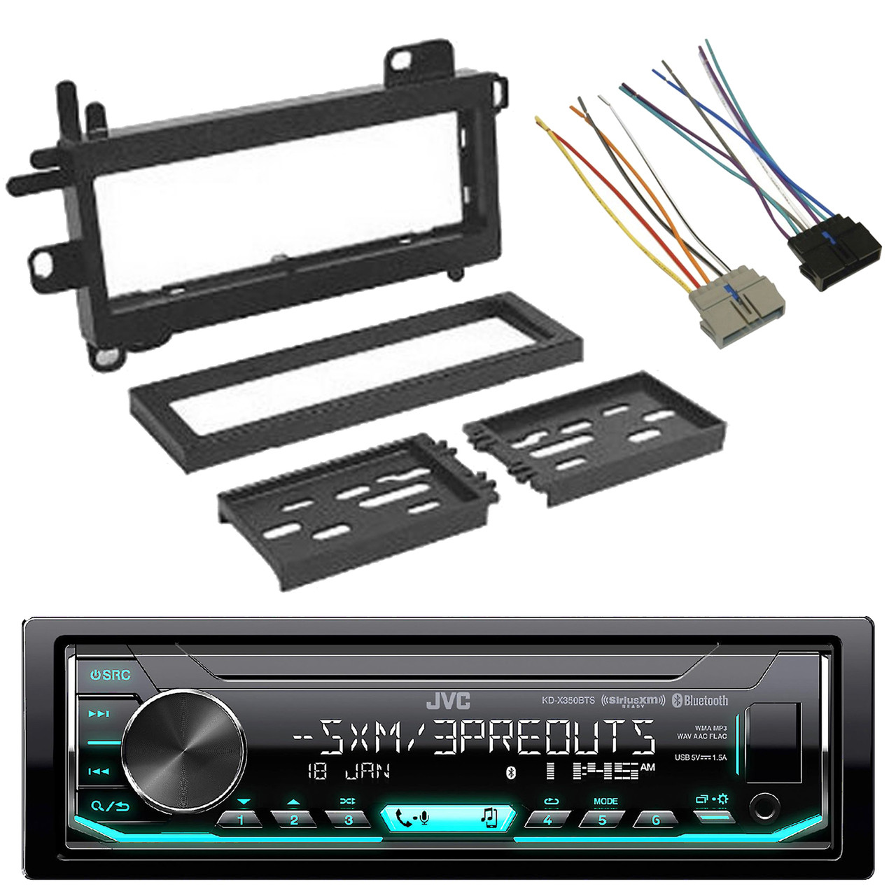 small resolution of  jvc usb aux siriusxm ready bluetooth car radio scosche wire harness scosche wiring harness