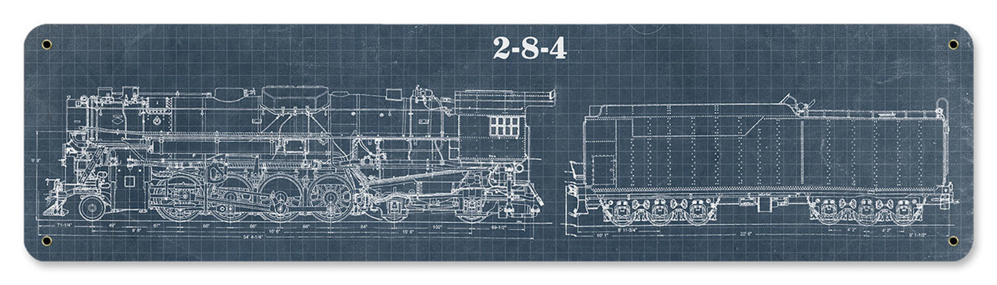 train blue print metal