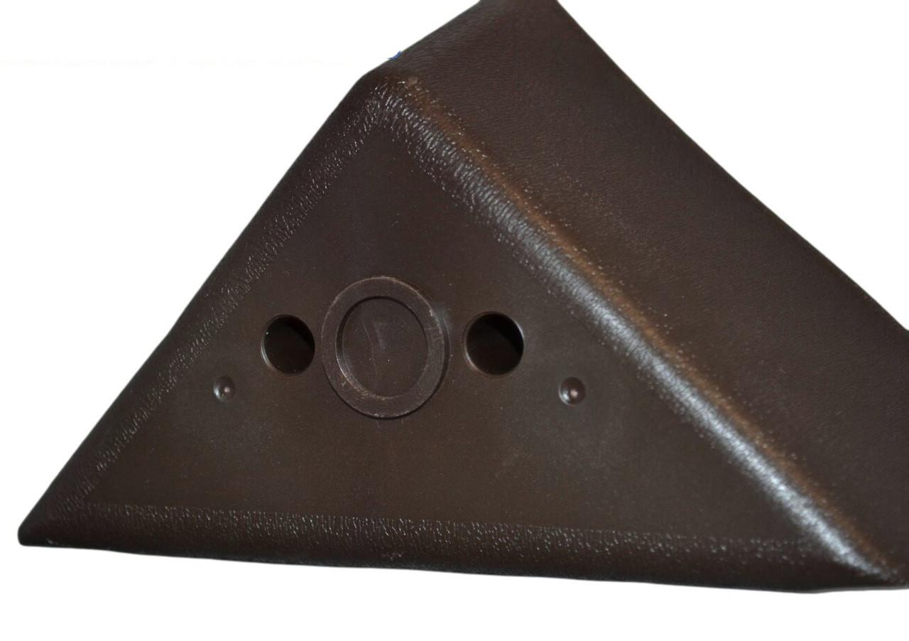 plastic leg triangular 2 75 brown color