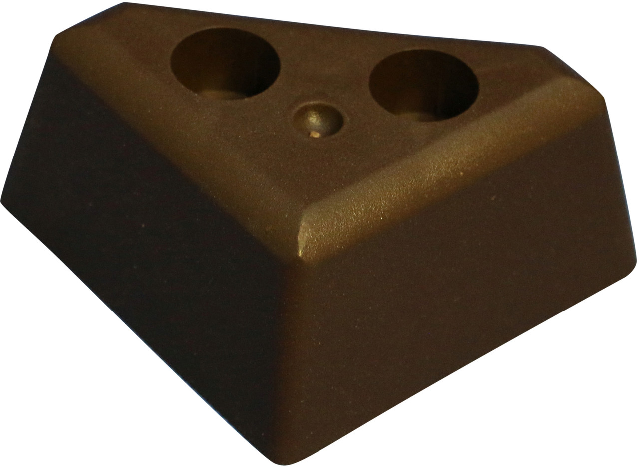brown plastic triangle 1 25 leg for sofas and recliners set of 4