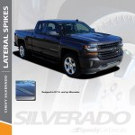 2017 Chevy Silverado Hood Decals Lateral Spikes 3m 2016 2018 Premium And Supreme Install Speedycardecals Fast Car Decals Auto Decals Auto Stripes Vehicle Specific Graphics