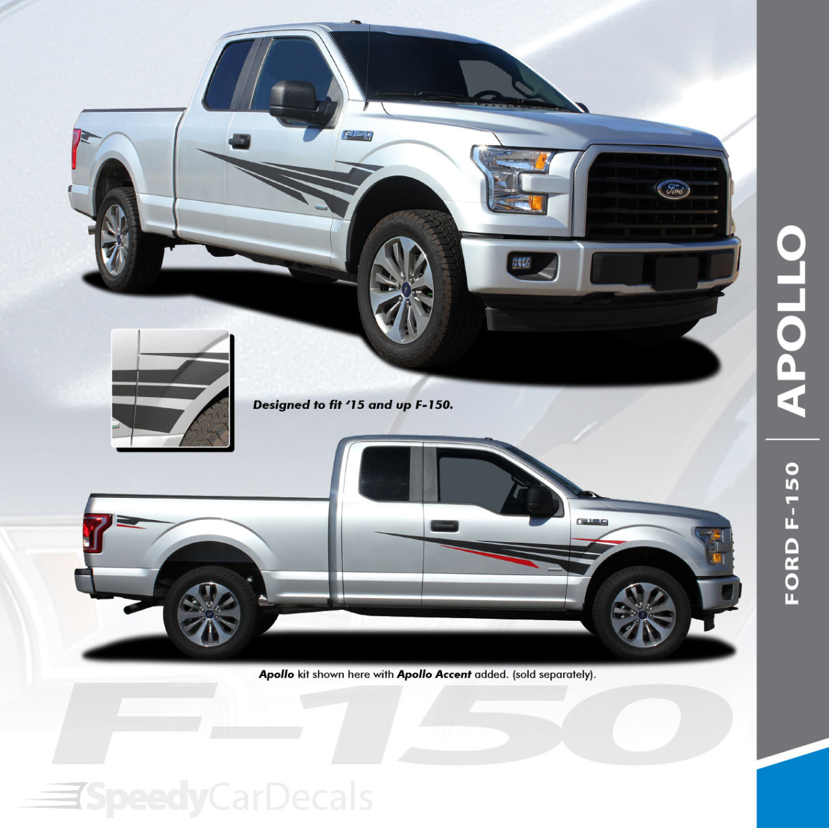 apollo 2015 2020 f 150 side door splash design stripes vinyl graphics and [ 1200 x 1199 Pixel ]