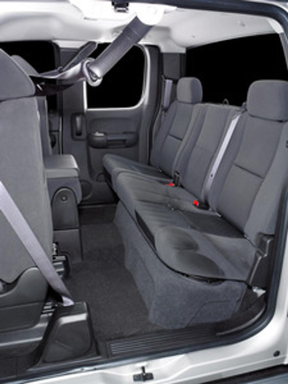Car Seat In Extended Cab Silverado : extended, silverado, SB-GM-SLVEXT2/10W1v3/BK:, Stealthbox®, 2007-2013, Chevrolet, Silverado, Sierra, Extended, Trucks, Stereo, Autotoys