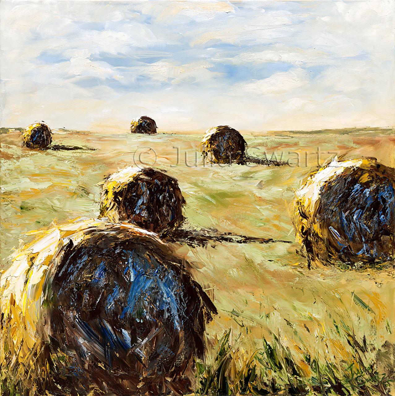 hay roll ups landscape