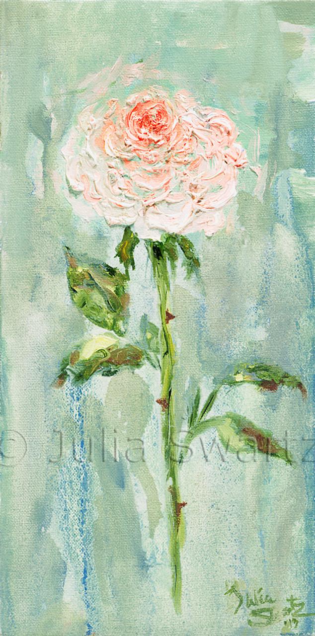 pink rose flower oil