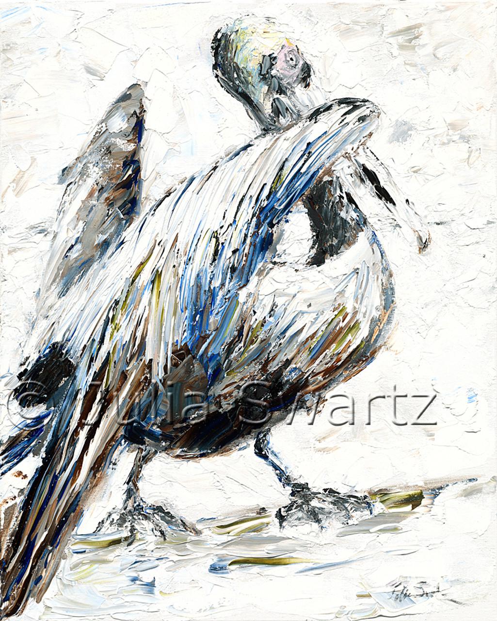 pelican 1 oil painting