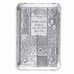 Personalized Baby Gift Ideas Handforged Metal Baby Quilt Tray