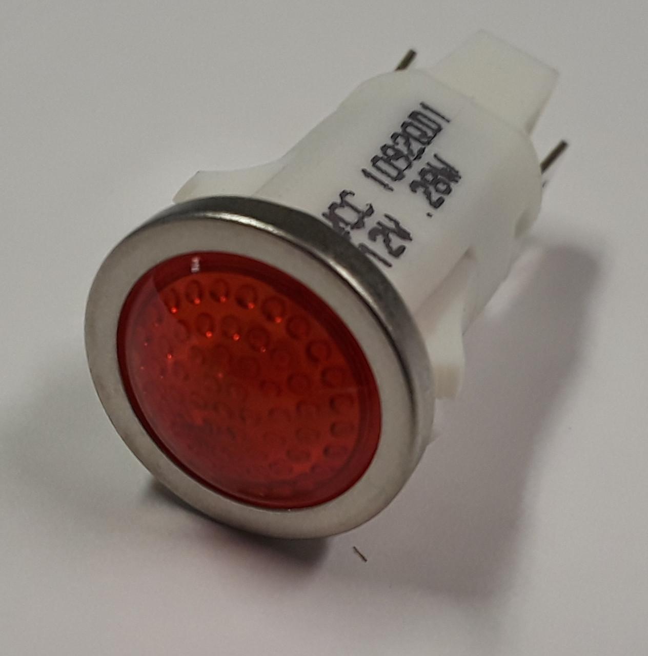 indicator light 12 volt led red spade terminals half inch mounting [ 1264 x 1280 Pixel ]