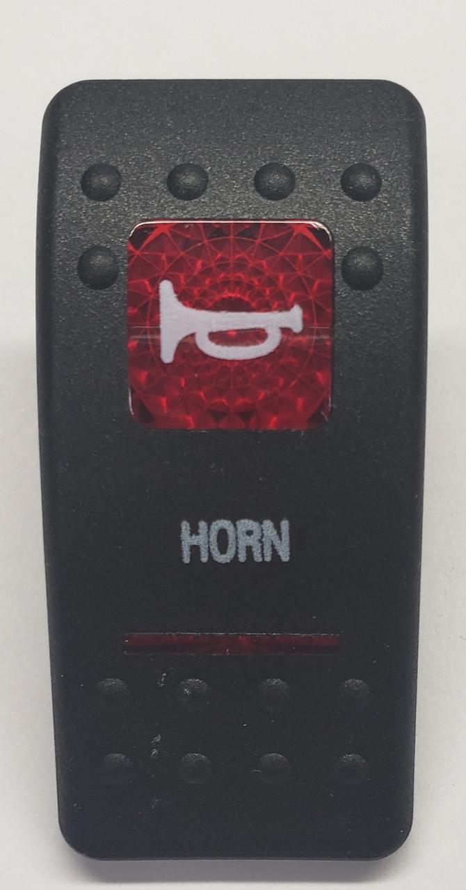 medium resolution of carling v series rocker switch cap actuator dual red lens horn switch cap