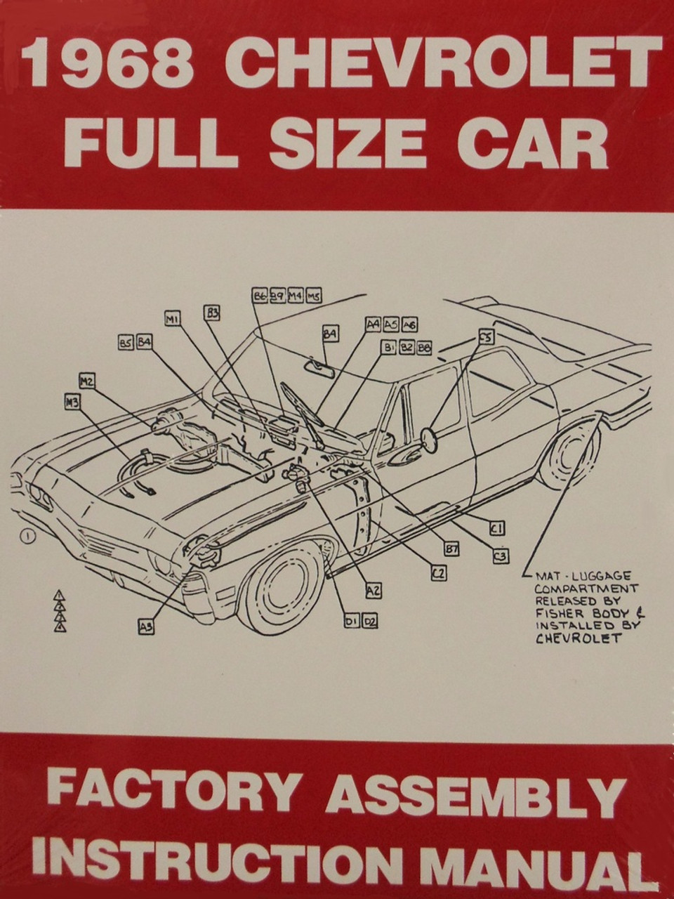 hight resolution of 68 1968 chevy bel air biscayne impala caprice factory assembly manual book