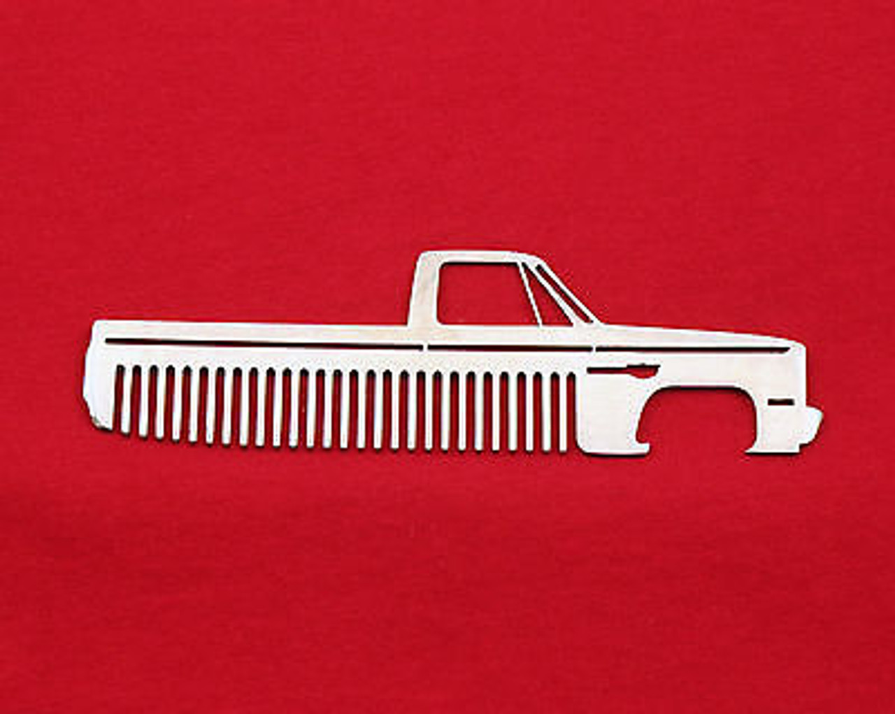 73 87 chevy truck brushed stainless steel metal trim beard hair mustache comb [ 1280 x 1021 Pixel ]