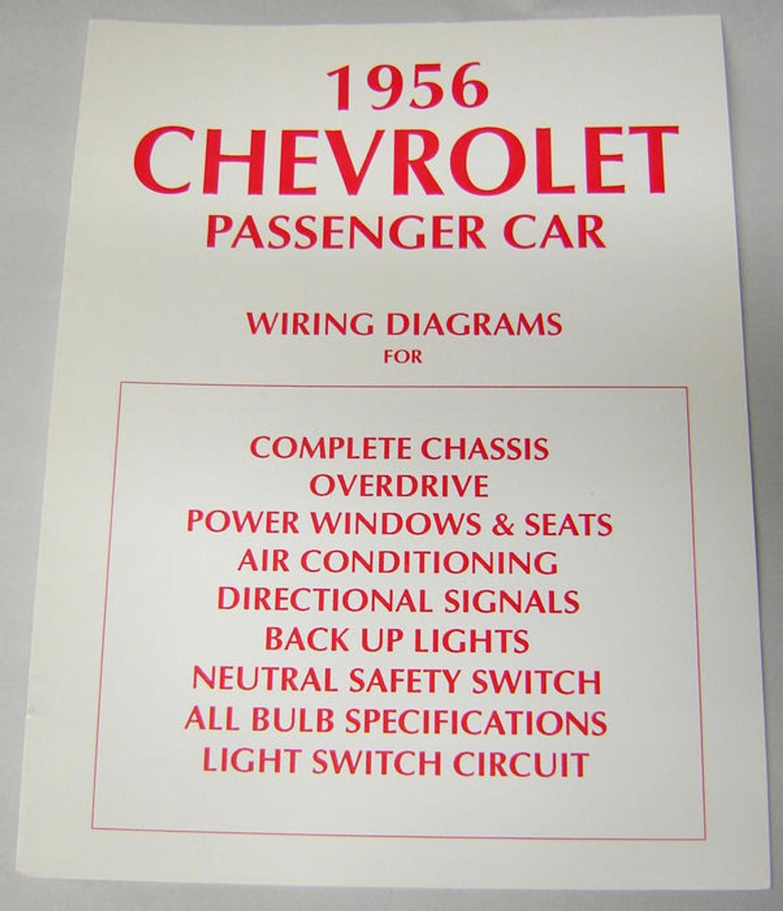 56 1956 chevy electrical wiring diagram manual [ 1101 x 1280 Pixel ]