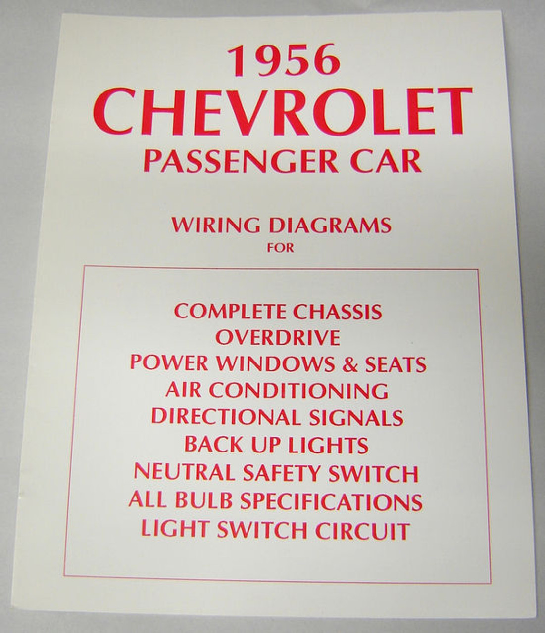 medium resolution of 56 1956 chevy electrical wiring diagram manual