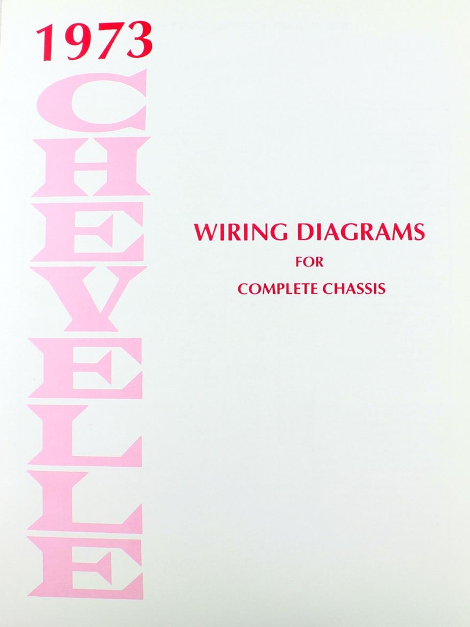 medium resolution of 73 chevelle el camino electrical wiring diagram manual