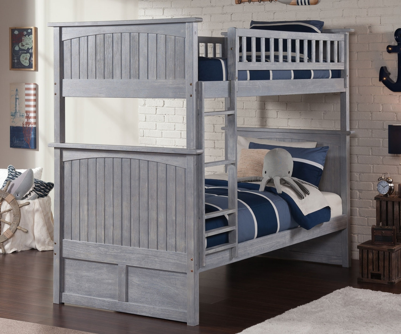 nantucket bunk bed driftwood grey
