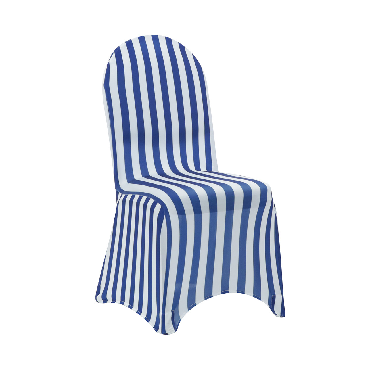 Royal Blue Chair Spandex Chair Cover Striped White And Royal Blue