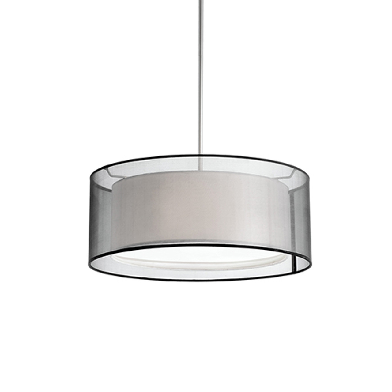 circon 2 light 15 drum shaped linen pendant by kuzco lighting