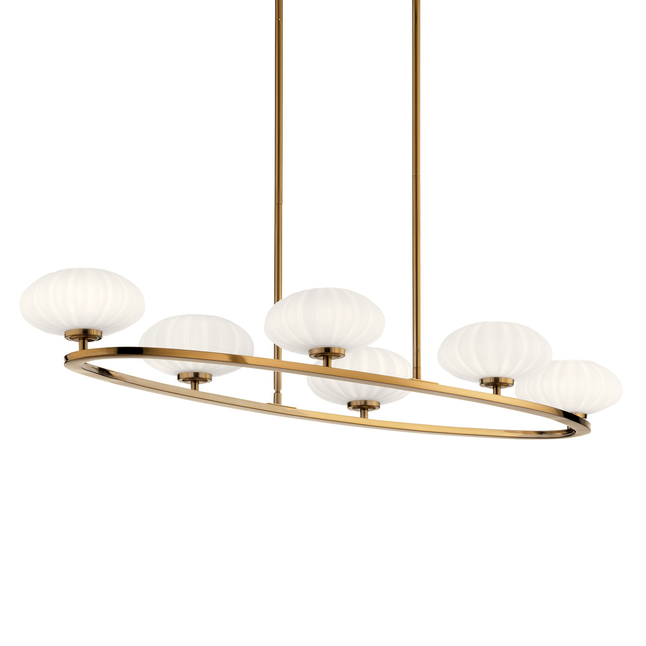 pim 6 light 48 round linear chandelier by kichler lighting