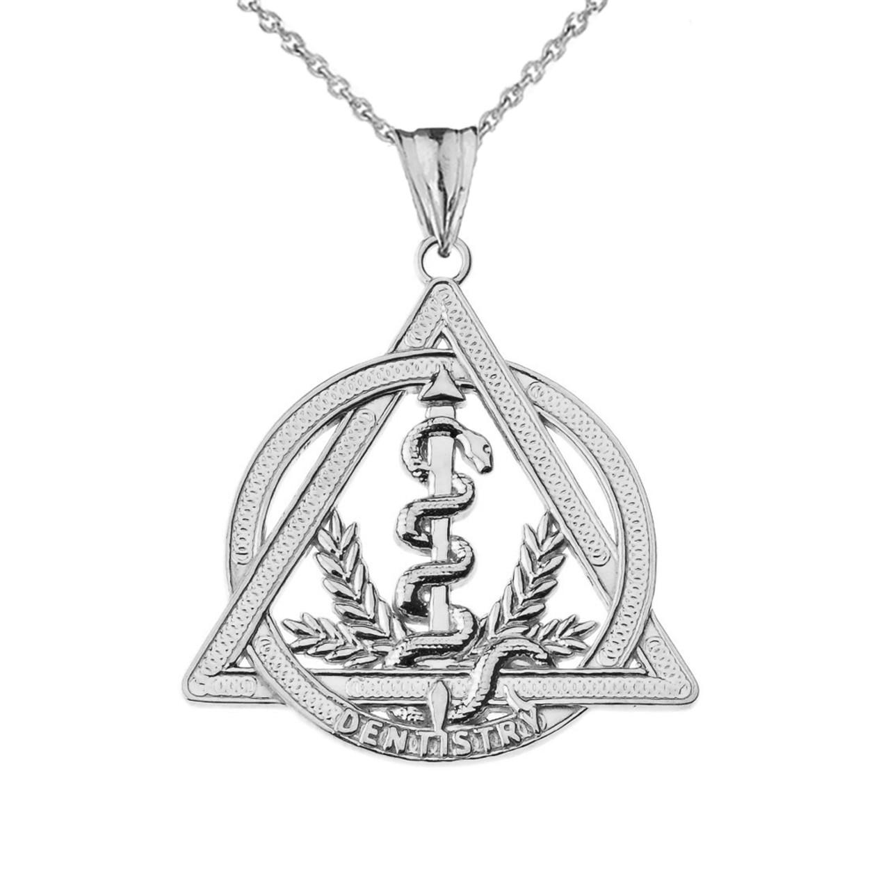 dentistry symbol pendant necklace