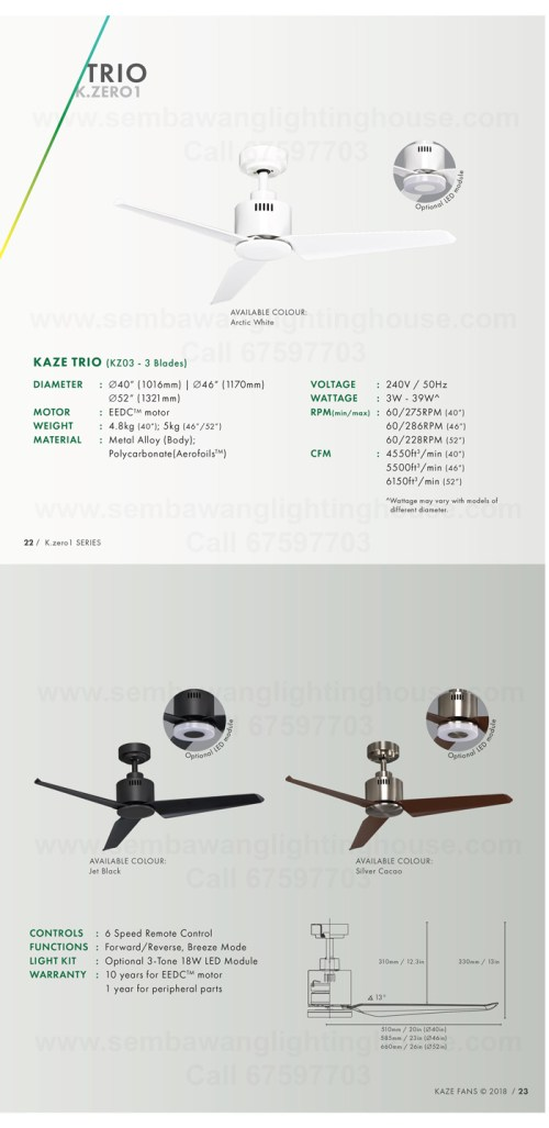 small resolution of kaze trio catalogue dc ceiling fan sembawang lighting