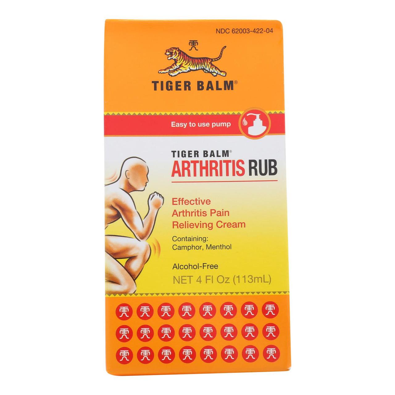 Tiger Balm Arthritis Rub - 4 Fl Oz - The Online Drugstore