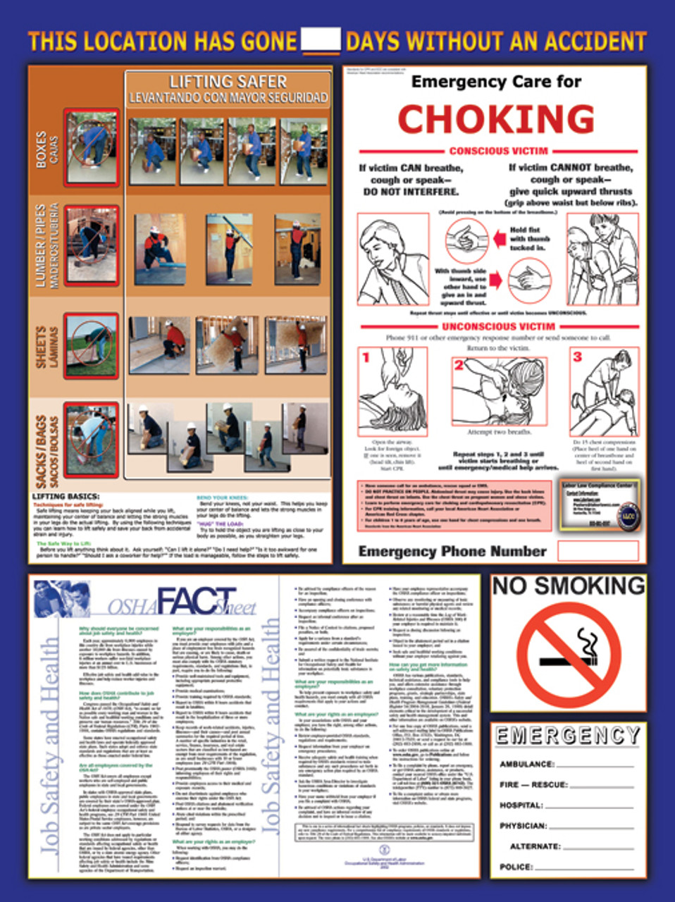 osha multi safety poster