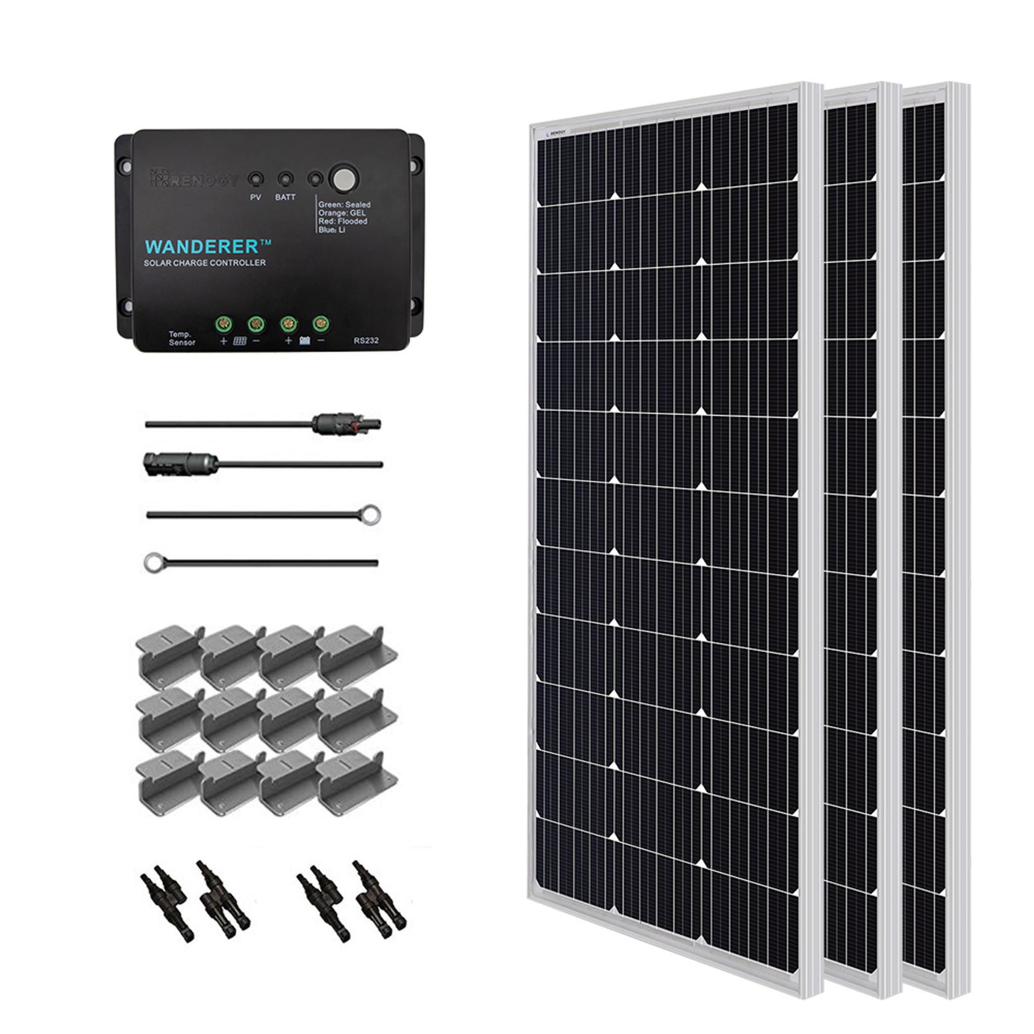 renogy 300 watt 12 volt solar starter kit  [ 2048 x 2048 Pixel ]