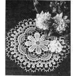 Crocheted Dahlia Flower Doily Pattern Vintage 1960