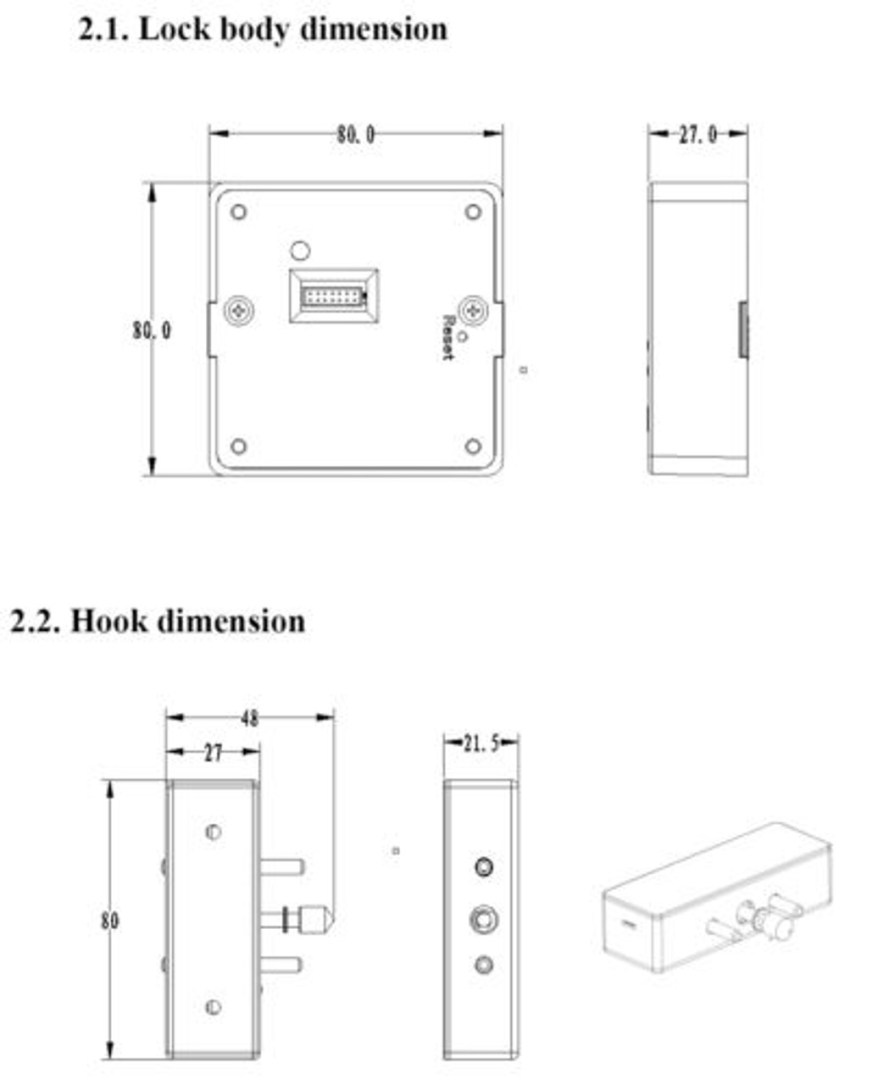 Bluetooth and RFID Hidden Cabinet Drawer Lock, 3 Keys ...