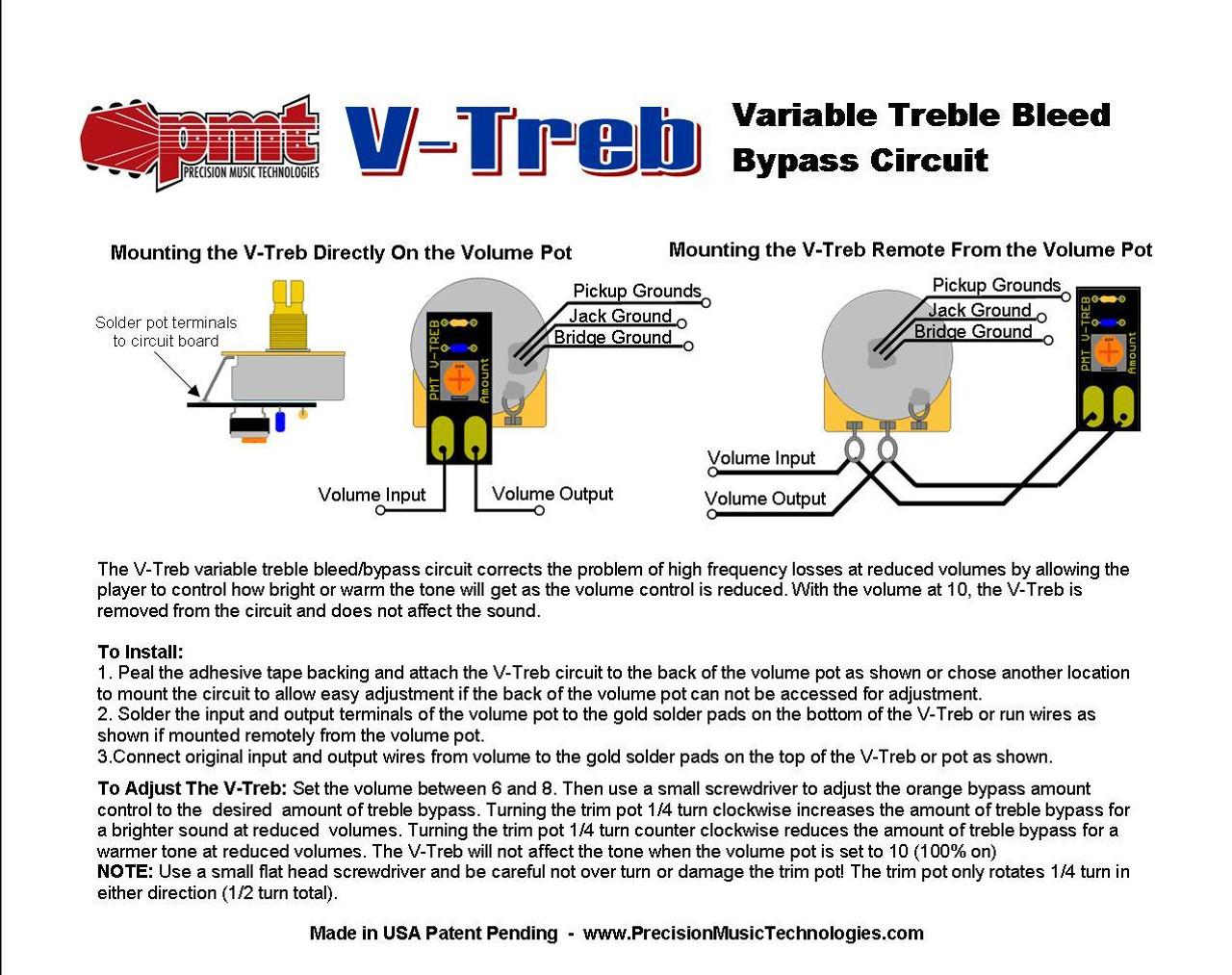 medium resolution of  v treb variable treble bleed circuit 3 pack on les paul pickup wiring