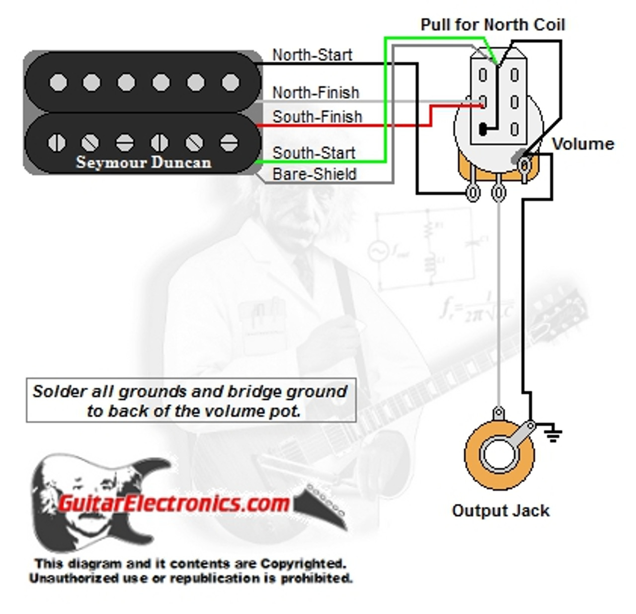 small resolution of 1 humbucker 1 volume pull for north single coilsplit coil wiring diagram 11