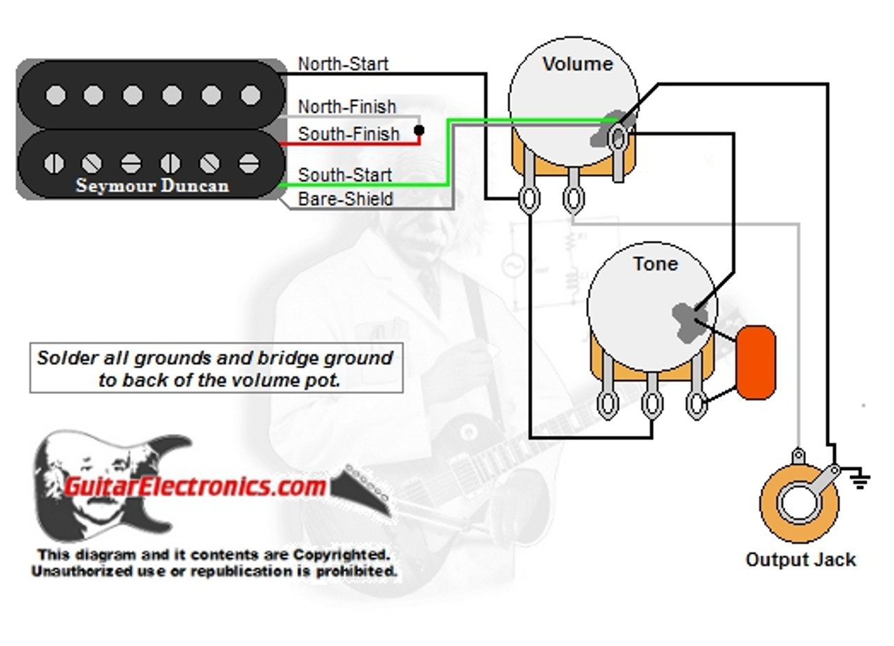 one humbucker pickup wiring diagram wiring diagram paper1 humbucker 1 volume 1 tone single humbucker pickup [ 1280 x 925 Pixel ]