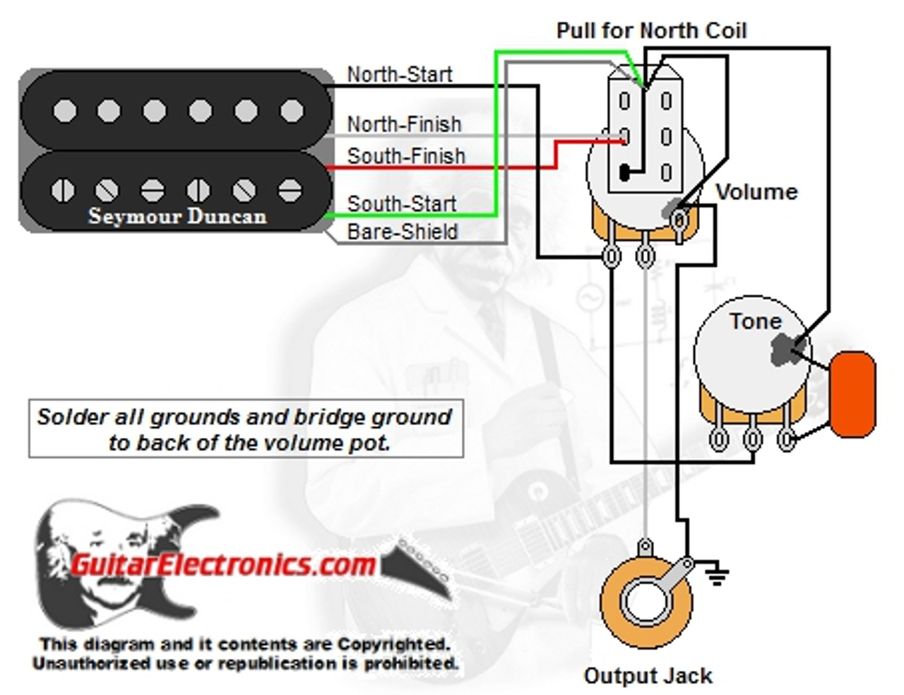 hight resolution of 1 humbucker 1 volume 1tone pull for north single coil guitar wiring diagram 1 humbucker 1 volume 1 humbucker 1 volume wiring