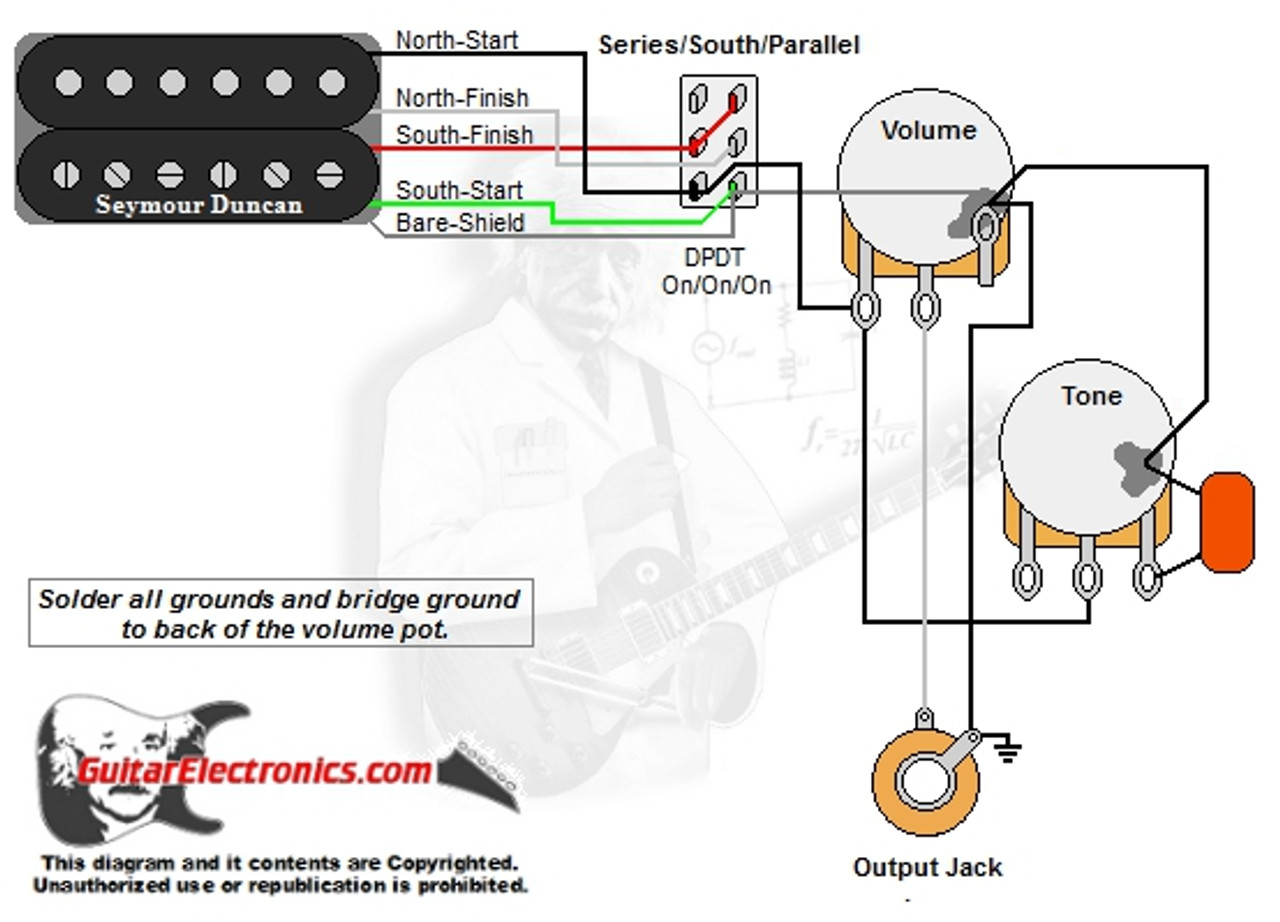 1 humbucker 1 volume 1 tone series south parallel wiring diagram 1 humbucker 1 volume 1 tone seriessouthparallel [ 1280 x 922 Pixel ]