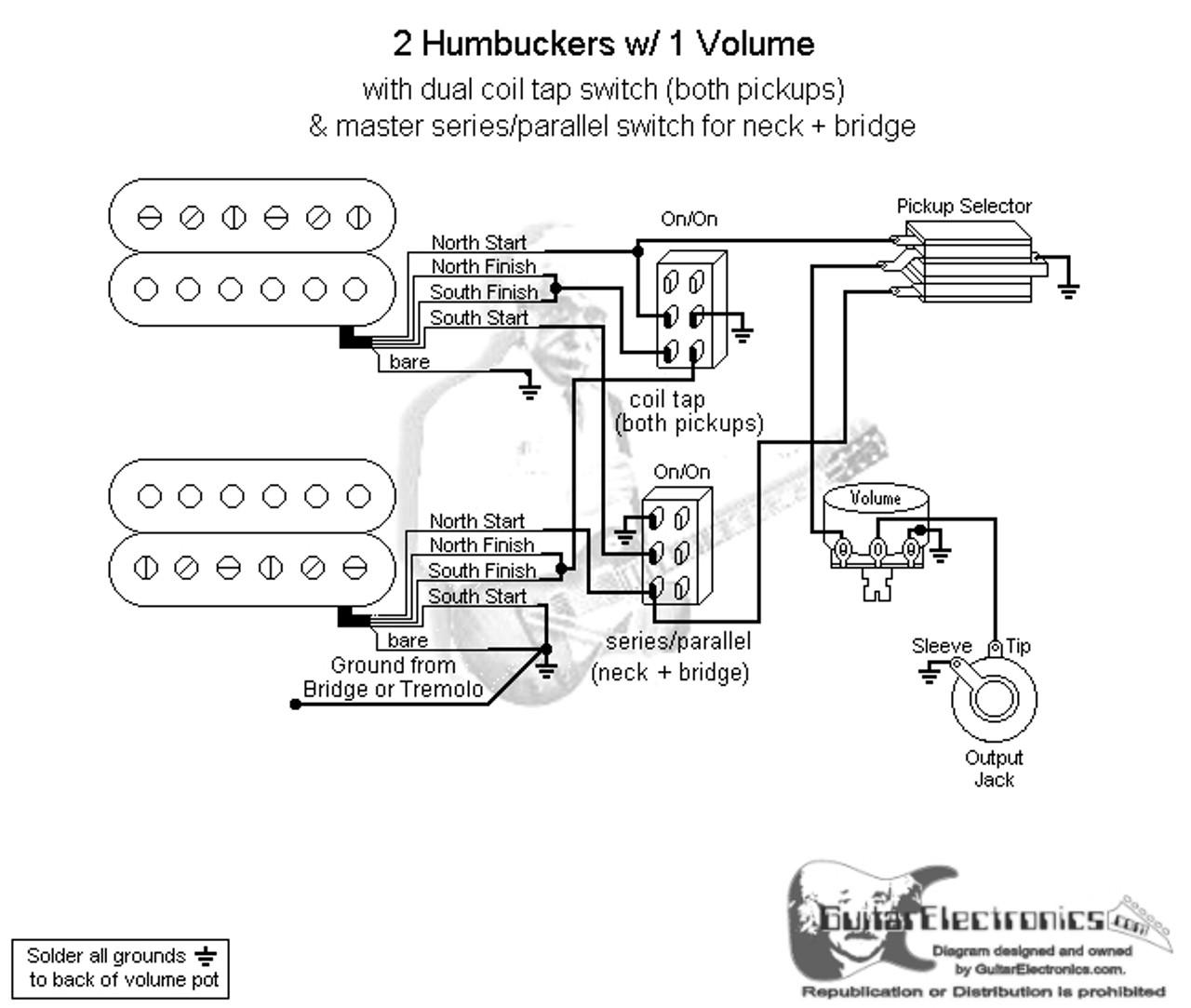 3 way switch 2 humbucker wiring diagram [ 1280 x 1083 Pixel ]